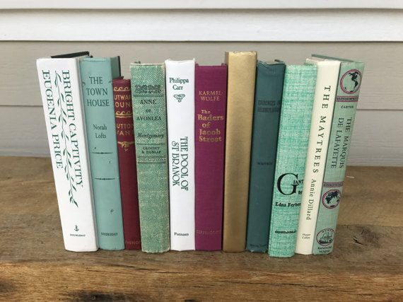 Faux Book Spine Crate Box Stunning Green Mint Fuscia White Gold by ColorMille & Ready To Ship! Stunning Green Mint Fuscia White Gold Blue Green ...