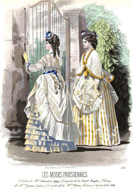 Les Modes Parisiennes 1870 Fashion Plates Victorian Fashion Victorian Era Dresses