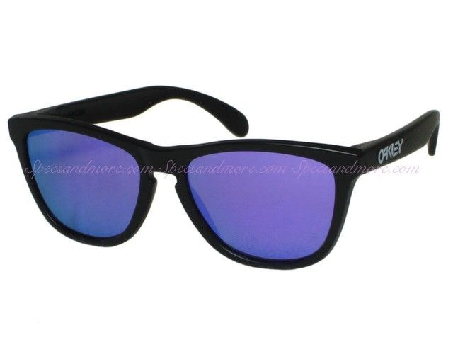 2f1a4f543 ... best price oakley frogskins 24 298 matte black violet iridium sunglasses  9bbf5 d2a00