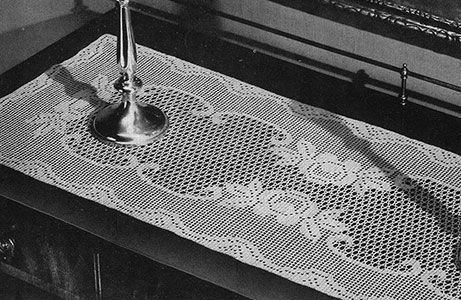 Queen of the Garden Runner Pattern by Free Vintage Crochet | Crochet ...