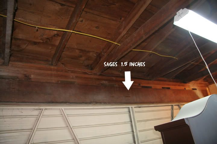 Sagging Garage Door Header Door Header Garage Doors Garage Door Repair