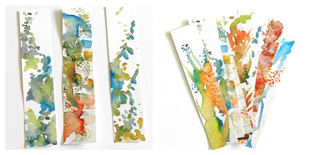 Abstract Watercolor Bookmarks Watercolor Bookmarks Abstract
