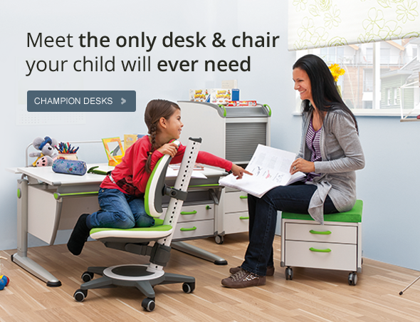 Moll Desks Booth 6937 The only desk and chair a child will ever need.