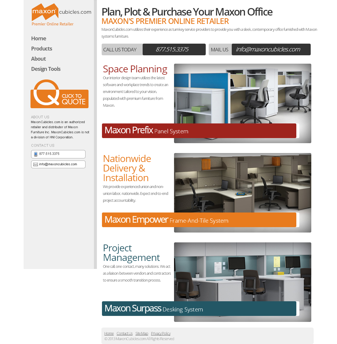 Office Equipment Website Space Planning Tool Design Panel Systems