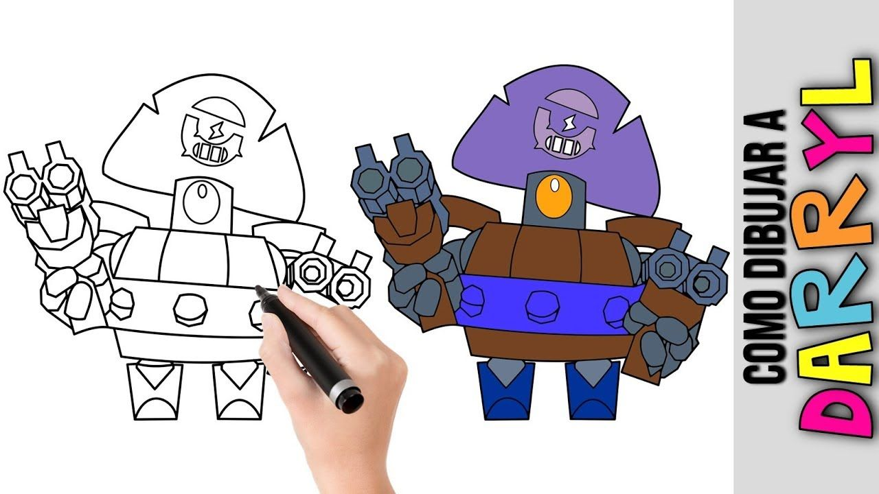 Como Dibujar Barryl De Brawl Stars Dibujos Fáciles Para