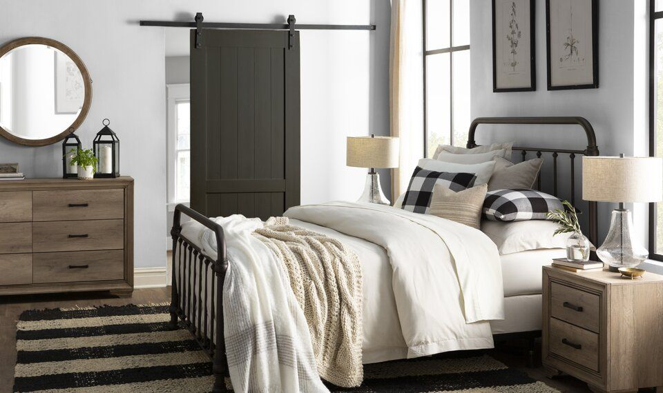 Laurel Foundry Modern Farmhouse | Wayfair | Modern farmhouse bedroom, Modern  farmhouse design, Bedroom design