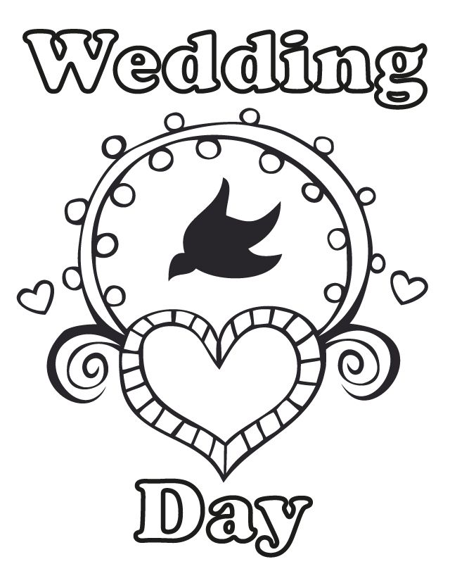 Free Wedding Coloring Pages For Children