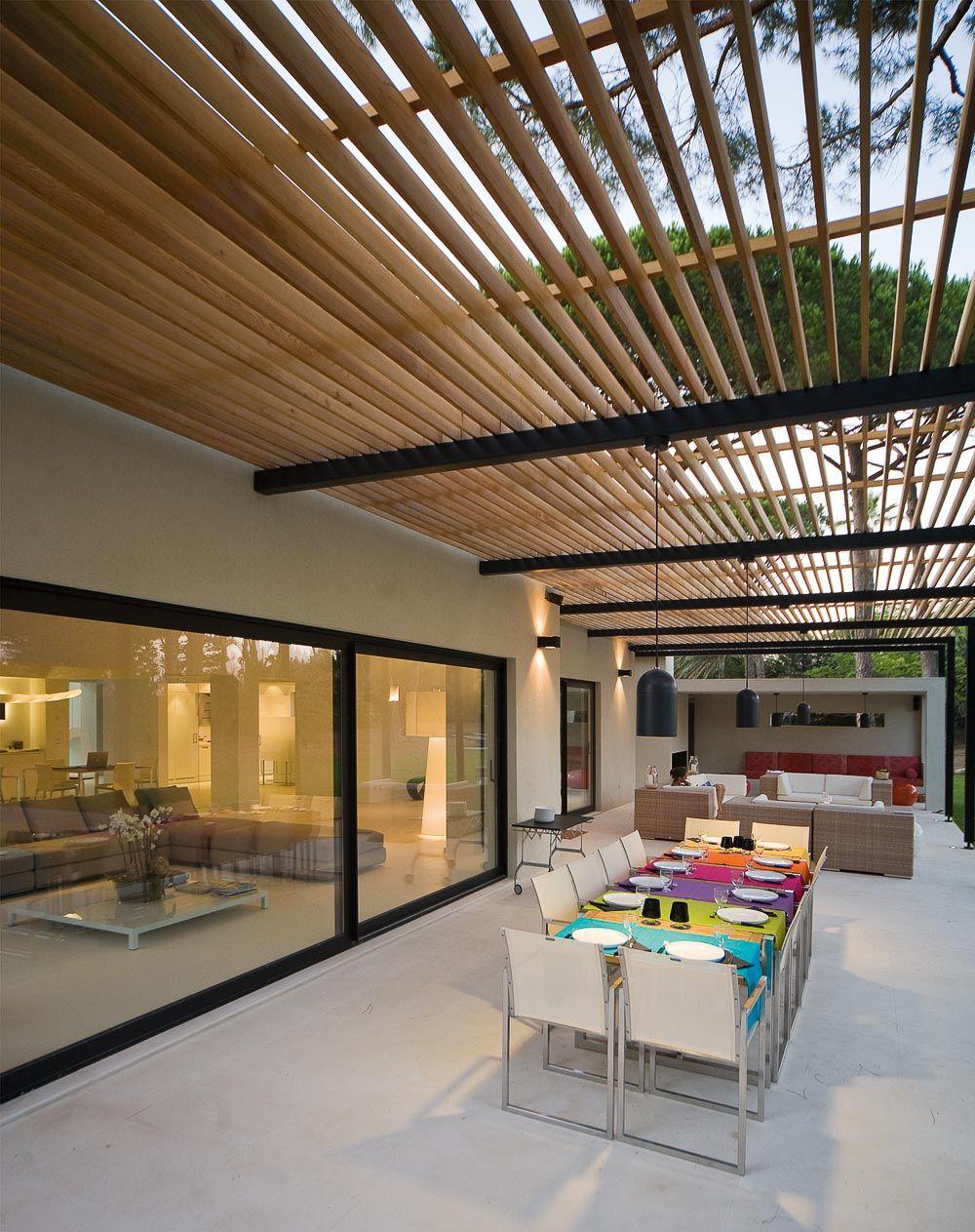 maison contemporaine saint tropez design interiors pinterest pergolas outdoor. Black Bedroom Furniture Sets. Home Design Ideas