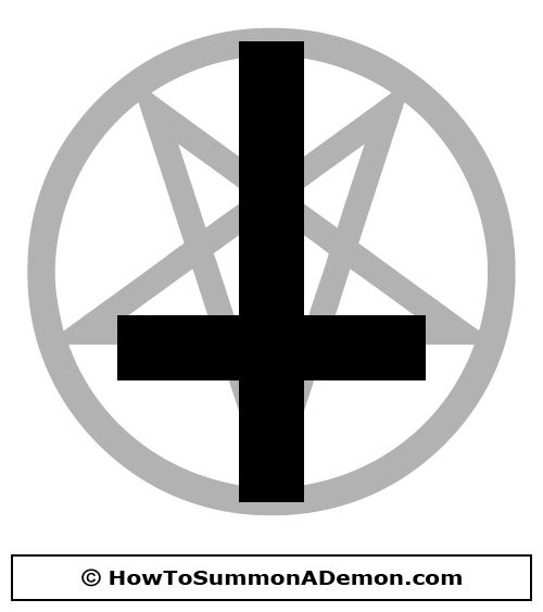 Inverted Pentagram With Upside Down Cross Clip Art Free Demonology