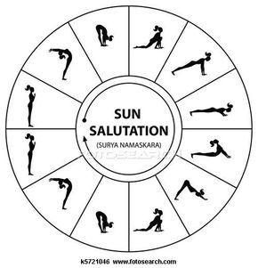 yoga is relaxing  yoga sun salutation sun salutation