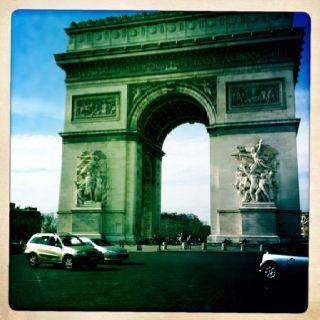 L'arc de triomphe Paris, france