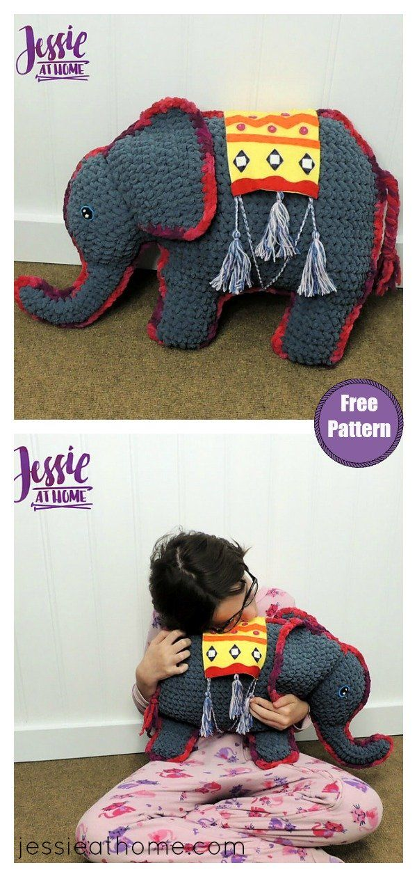 The Elephant Softie Free Crochet Pattern #crochetelephantpattern