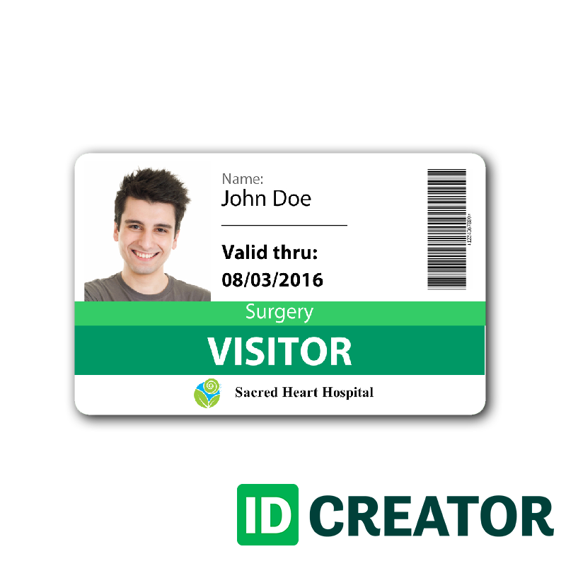 Id Card Template Templates Visitor Badges Plastic Business Cards Badge