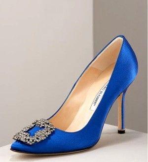55f51b39 Zapato en azul shock diseño exclusivo que apareció en la pelicula de Sexo  en Nueva York