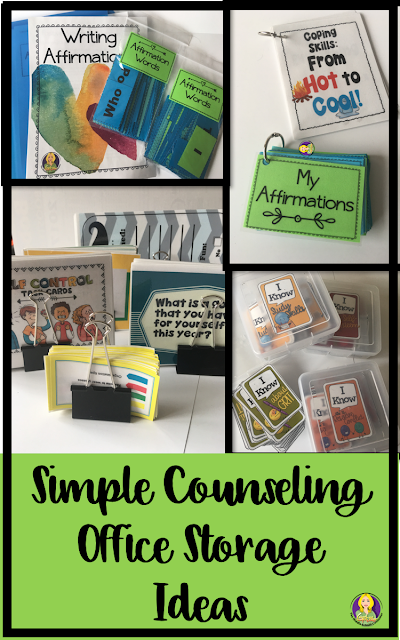 Counseling Office Storage Solutions is part of Elementary School Organization - Storage Ideas, Counseling Office, Office Organization