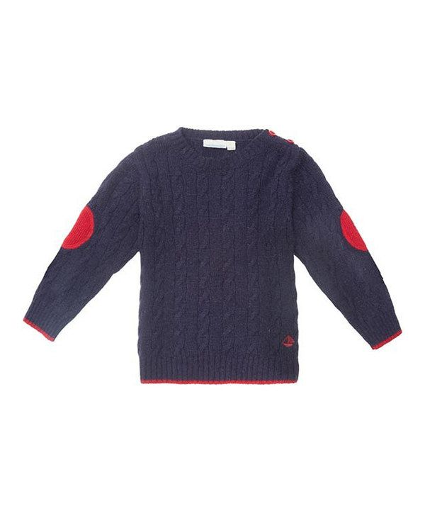 e76244bfc Look at this Navy Cable-Knit Sweater - Infant, Toddler & Boys on #zulily  today!
