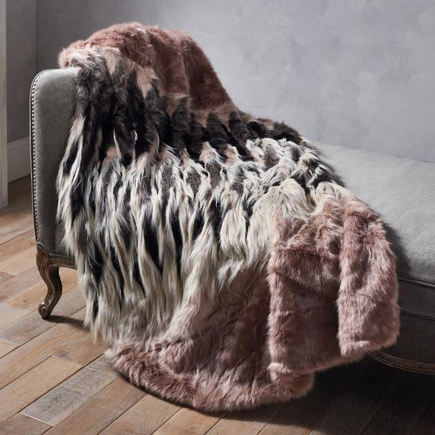 Luxury Faux Fur Throw In Chevron Faux Fur Throw Faux Fur