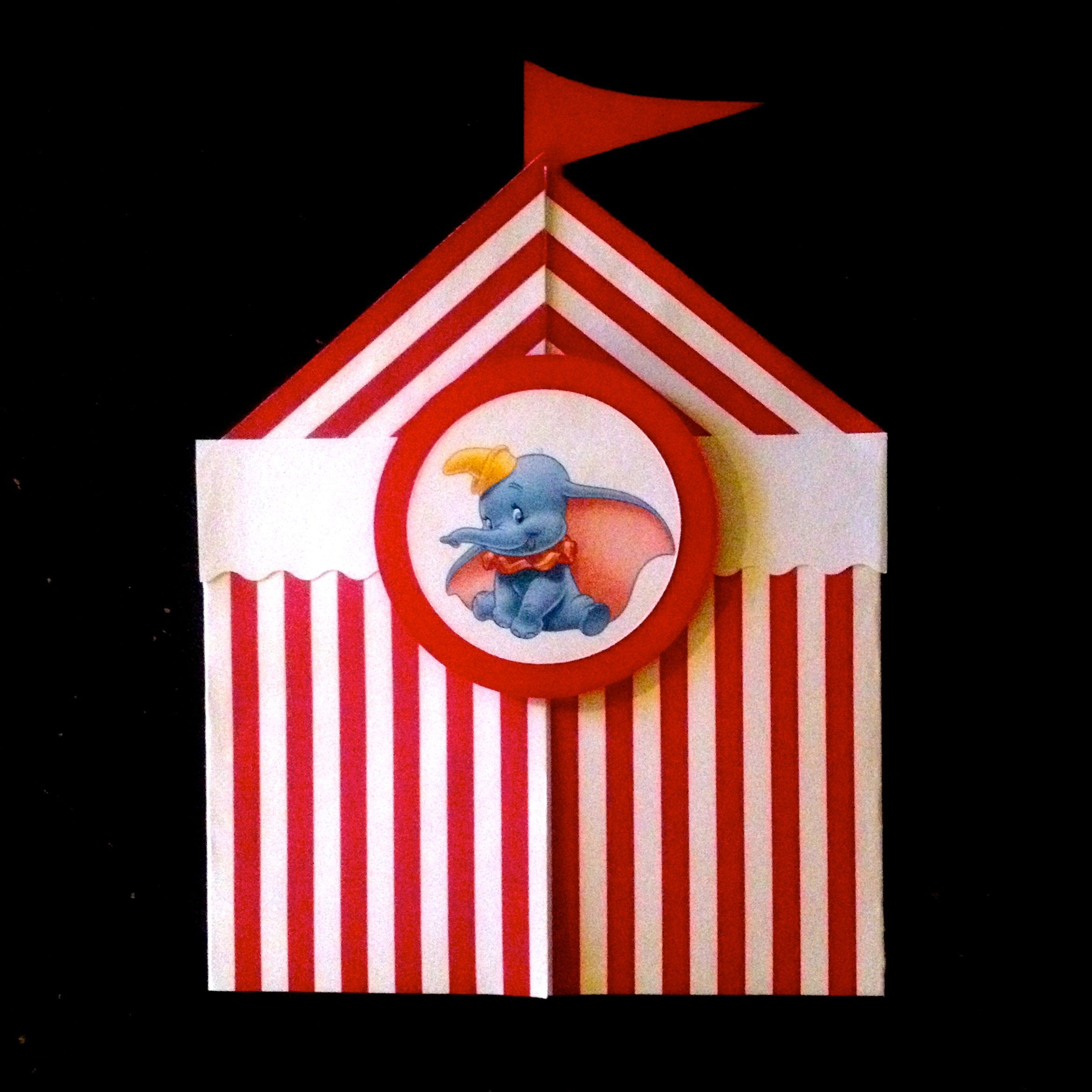 I made these invitations for our Dumbo Circus Train Party---Striped Paper Tents & I made these invitations for our Dumbo Circus Train Party ...