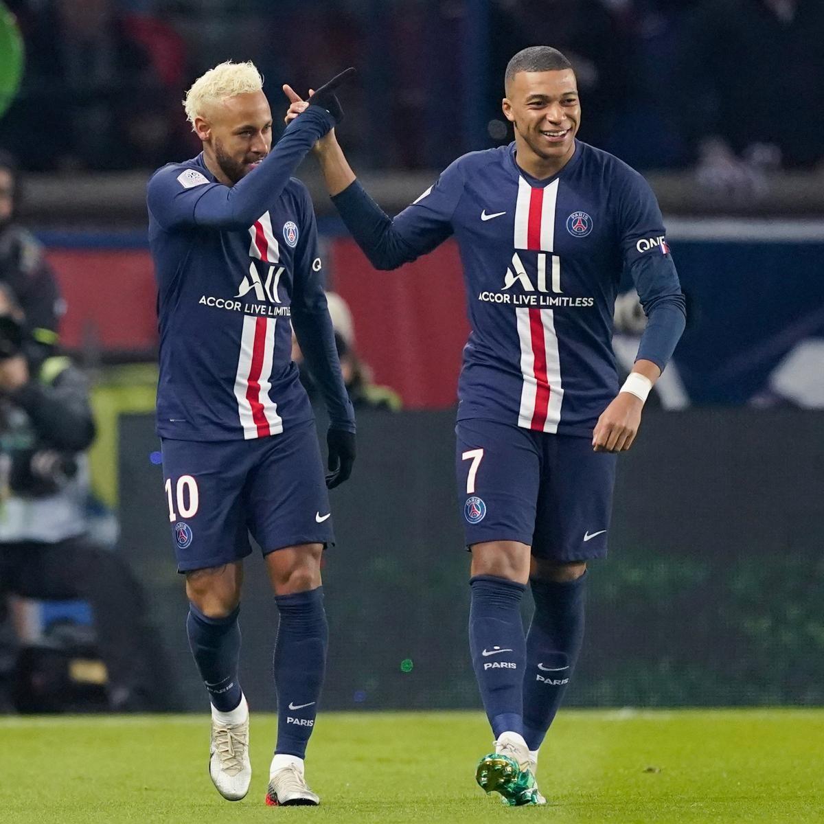Neymar, Kylian Mbappe Score As PSG Rout Monaco 41 In