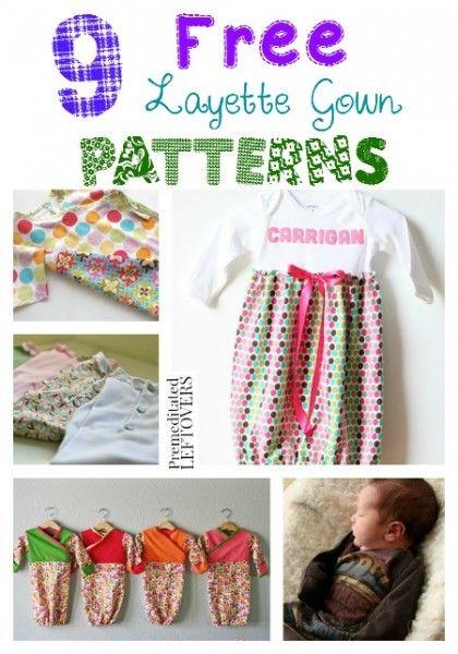 ef2f482f7 9 Free Layette Gown Patterns - Save money on your newborn s wardrobe ...