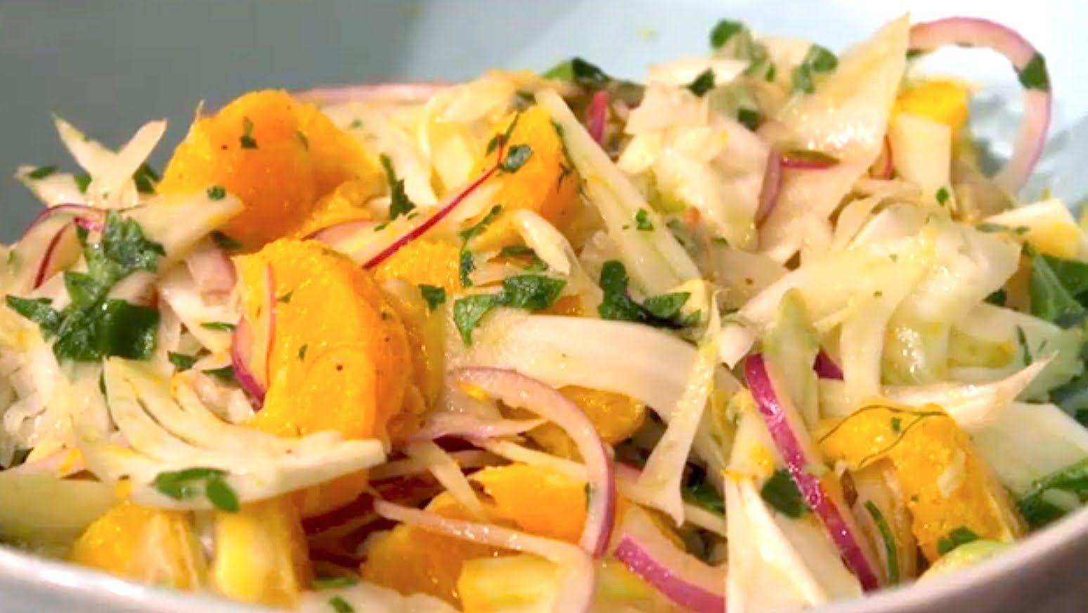 Bright fresh orange fennel salad by save the kales