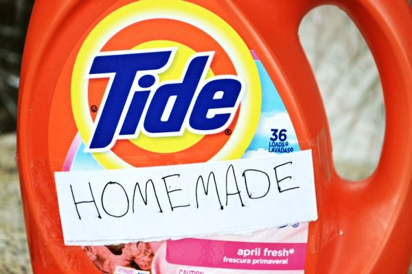 Homemade Liquid Laundry Detergent With The Power Of Tide Huge