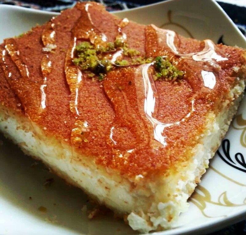 كنافه نابلسيه Lebanese Recipes Food Desserts