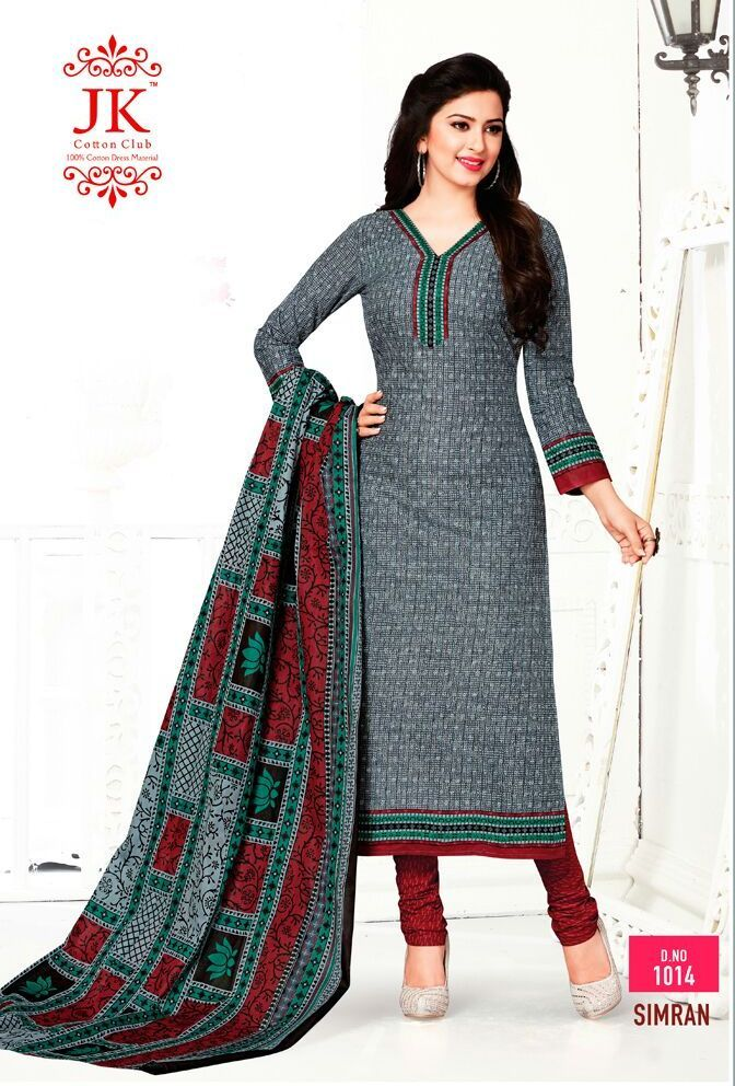 8db6a817a48a JK Simran Cotton Suits Collections (16 pc catalog) | daily wear ...