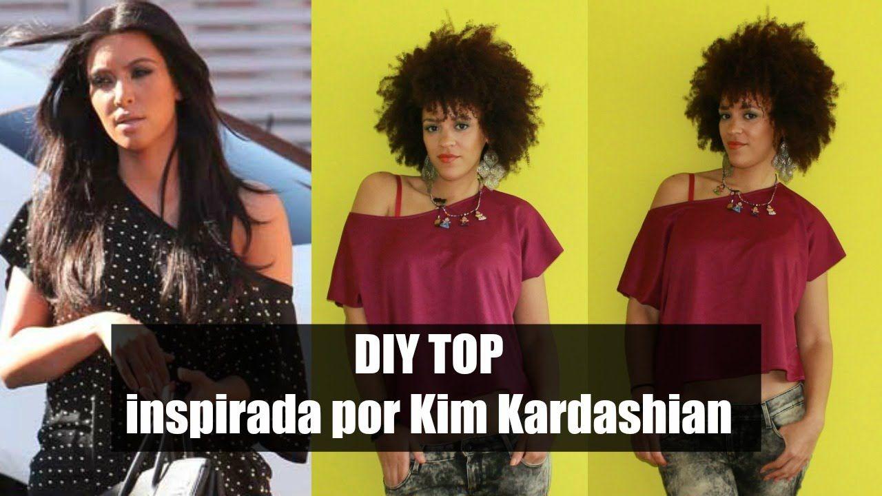 DIY Top Inspirada por Kim Kardashian | DIY Moda