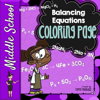 Balancing Chemical Equations Coloring Page Early finishers - balancing equations worksheet template