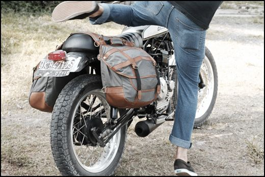 Vintage Canvas Motorcycle Saddle Bags Rider Mountain Bike Road Bike Luggage Vehicle Parts & Accessories
