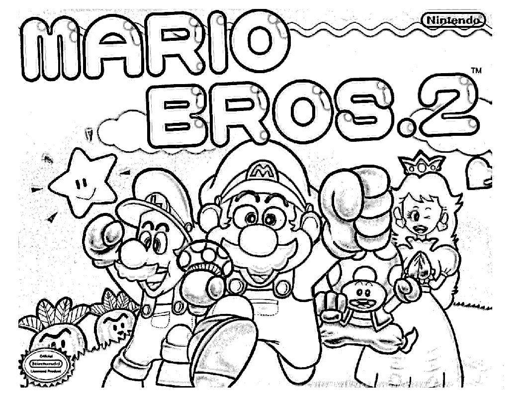 Super Mario Coloring Pages  Super mario coloring pages, Mario