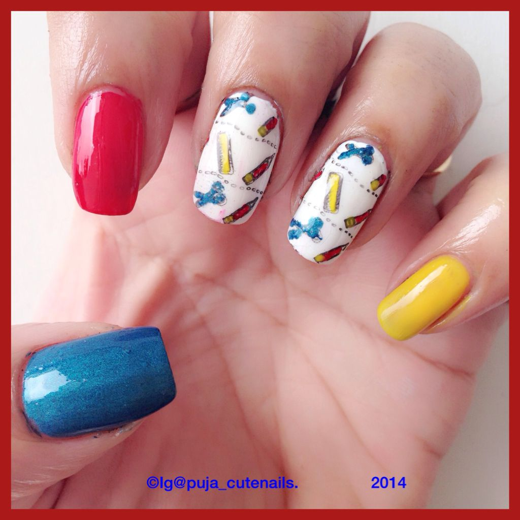 Happy teacher's day/ back to school nails School nails