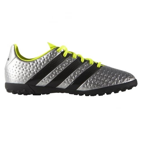 the latest 52ab8 88875 adidas ACE 16.4 Junior Astroturf Trainer Silver ...