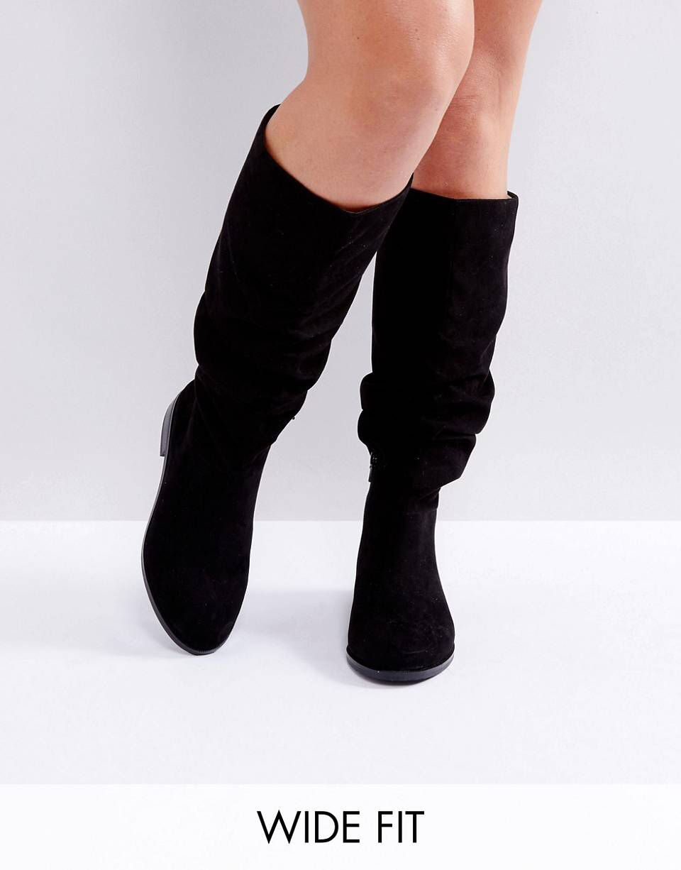 CAPITAL Wide Fit Slouch Knee Boots | Shoes | Knee boots