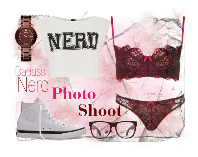 """""""PhotoShoot: NERD!!!!"""" by vsecret ❤ liked on Polyvore featuring Topshop, Influence, RetroSuperFuture, Converse, Fendi, bad, sexy, photoshoot, converse and beautiful"""