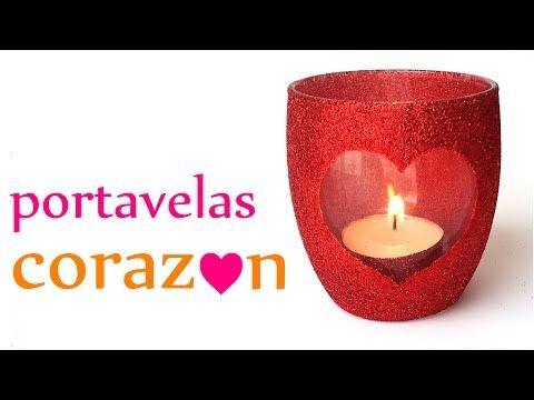 Manualidades para San Valentín ♥ PORTAVELAS CORAZÓN ♥ (Muy Fácil) - Innova Manualidades - YouTube