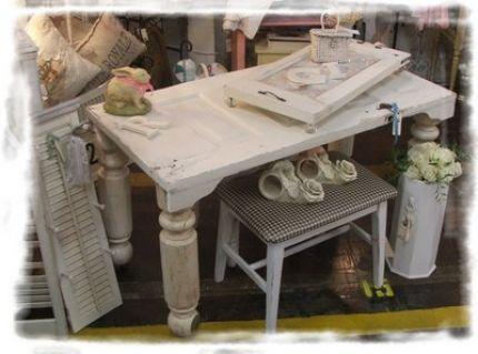 how to make a desk from an antique door - Old Door Table Woodwork Pinterest Door Tables, Door Desk And