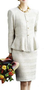 Ravelry: 97-98-1 Peplum Suit pattern by Pierrot (Gosyo Co., Ltd)