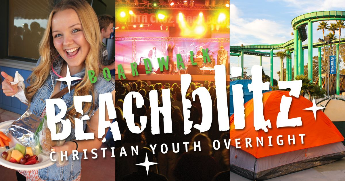 Boardwalk Beach Blitz is a dynamic Christian youth event designed to help young people strengthen their relationship with Jesus Christ.