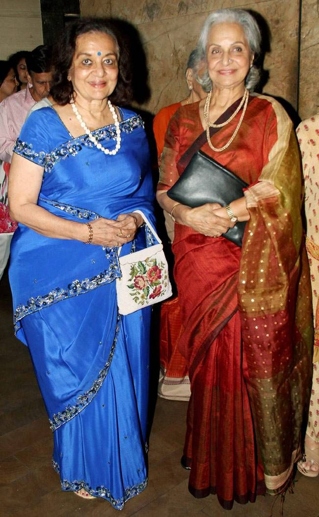 This Is What They Look Like Now Asha Parekh And Waheeda Rehman At Prem Ratan Dhan Payo Screening