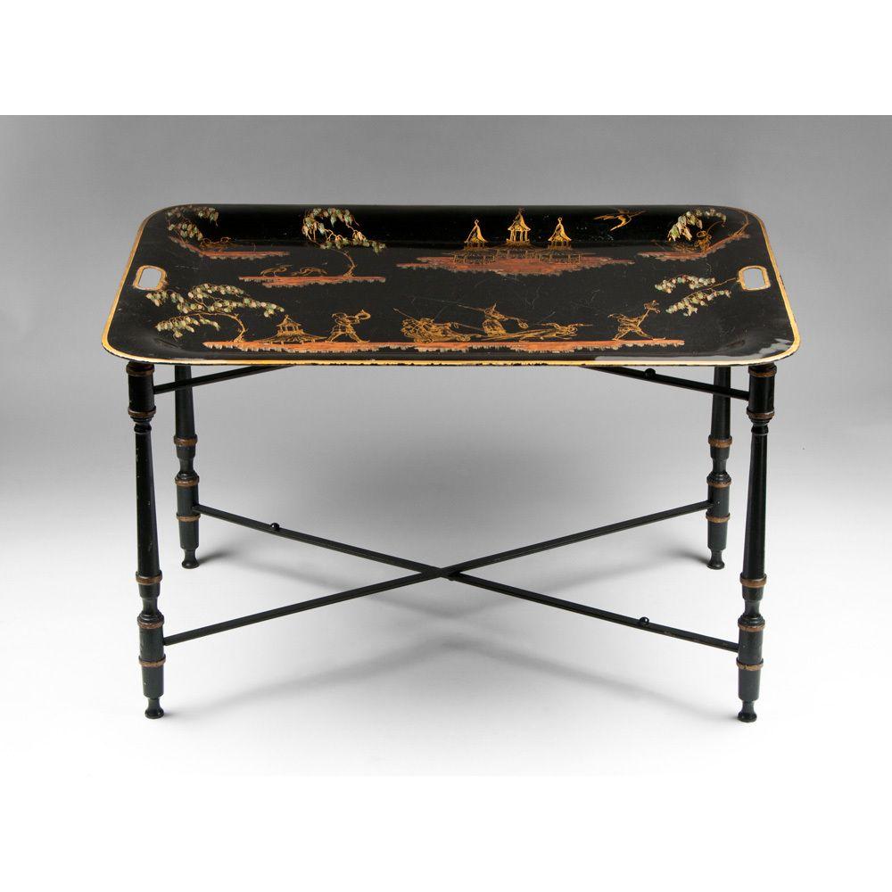 Pin By Iffah Fathin On Style: Napoleon III Style Tole Tea Table, Chinoiserie Tray