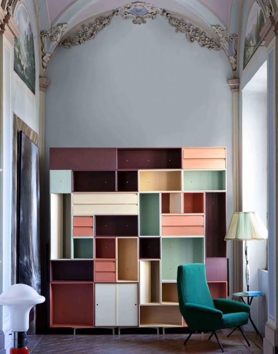 An idea that could be used for creating artful bookcases.