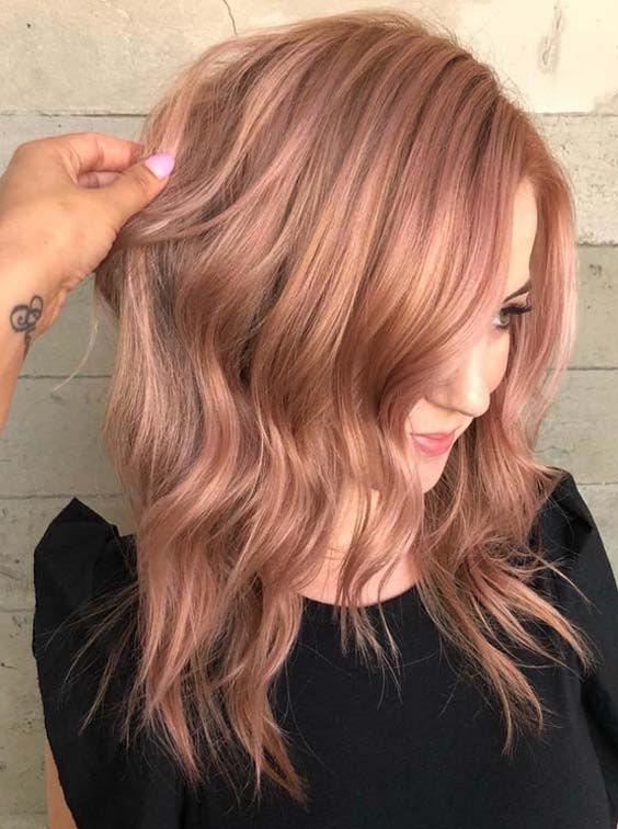 22 stunning rose gold hair color shades to wear in 2018. Black Bedroom Furniture Sets. Home Design Ideas