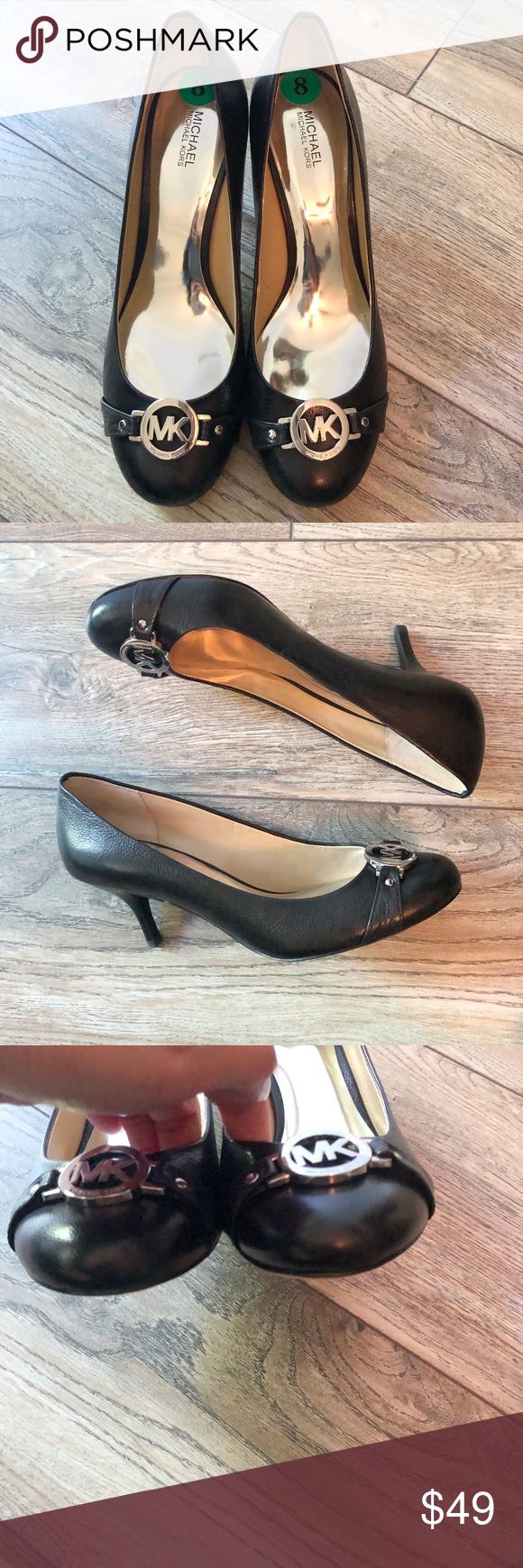 Michael Kors Size 8 Logo Pumps Michael kors shoes heels
