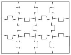 Blank Jigsaw Puzzle Templates Make Your Own Jigsaw Puzzle For Free Puzzle Piece Template Printable Puzzles Puzzle