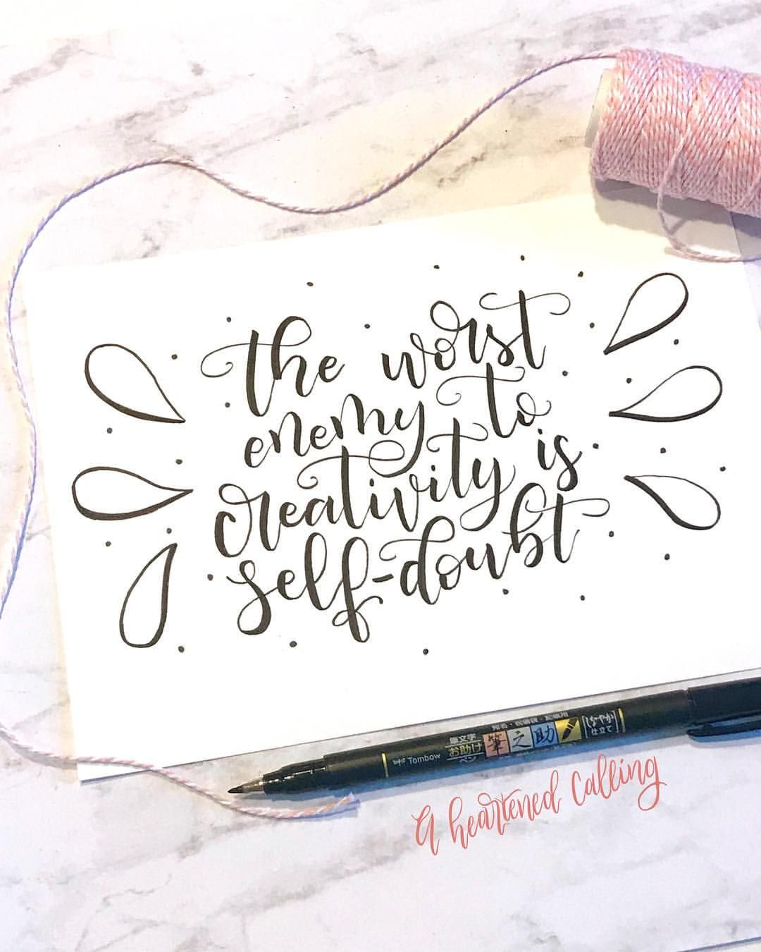 Inspirational Quote Lettering Tombow Pens Hand Letter Inspiration Lettering Handschrift Handlettering