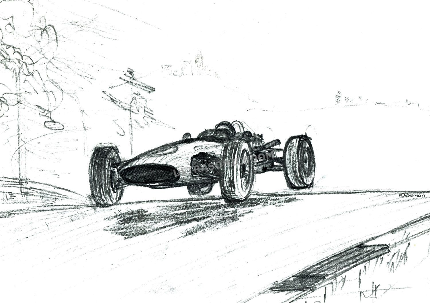 Sketch Of I Believe Of F1 Car In The 60 S I Saw Cars That