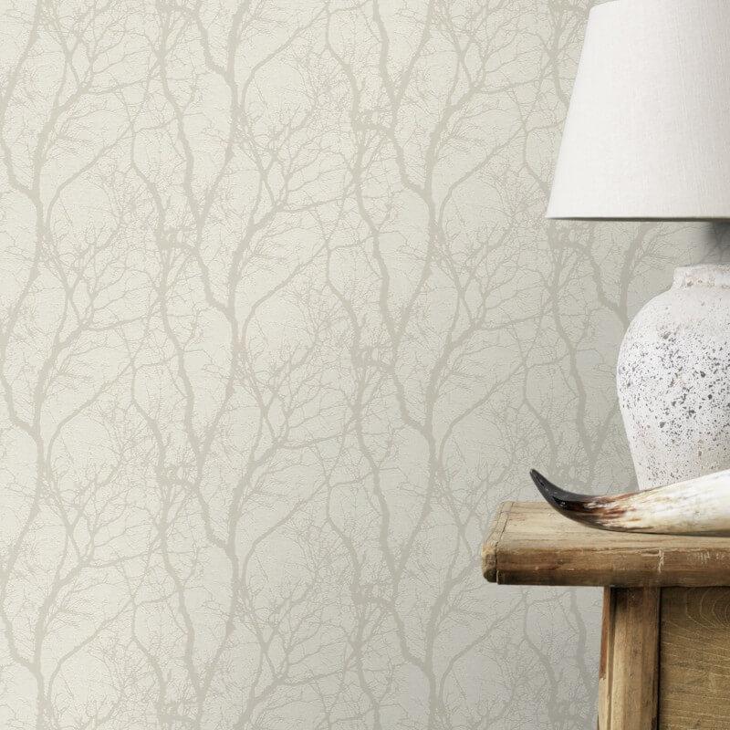 Rasch Glimmer Forest Cream Ivory Metallic Wallpaper 633252 Metallic Wallpaper Brick Effect Wallpaper Contemporary Wallpaper Designs