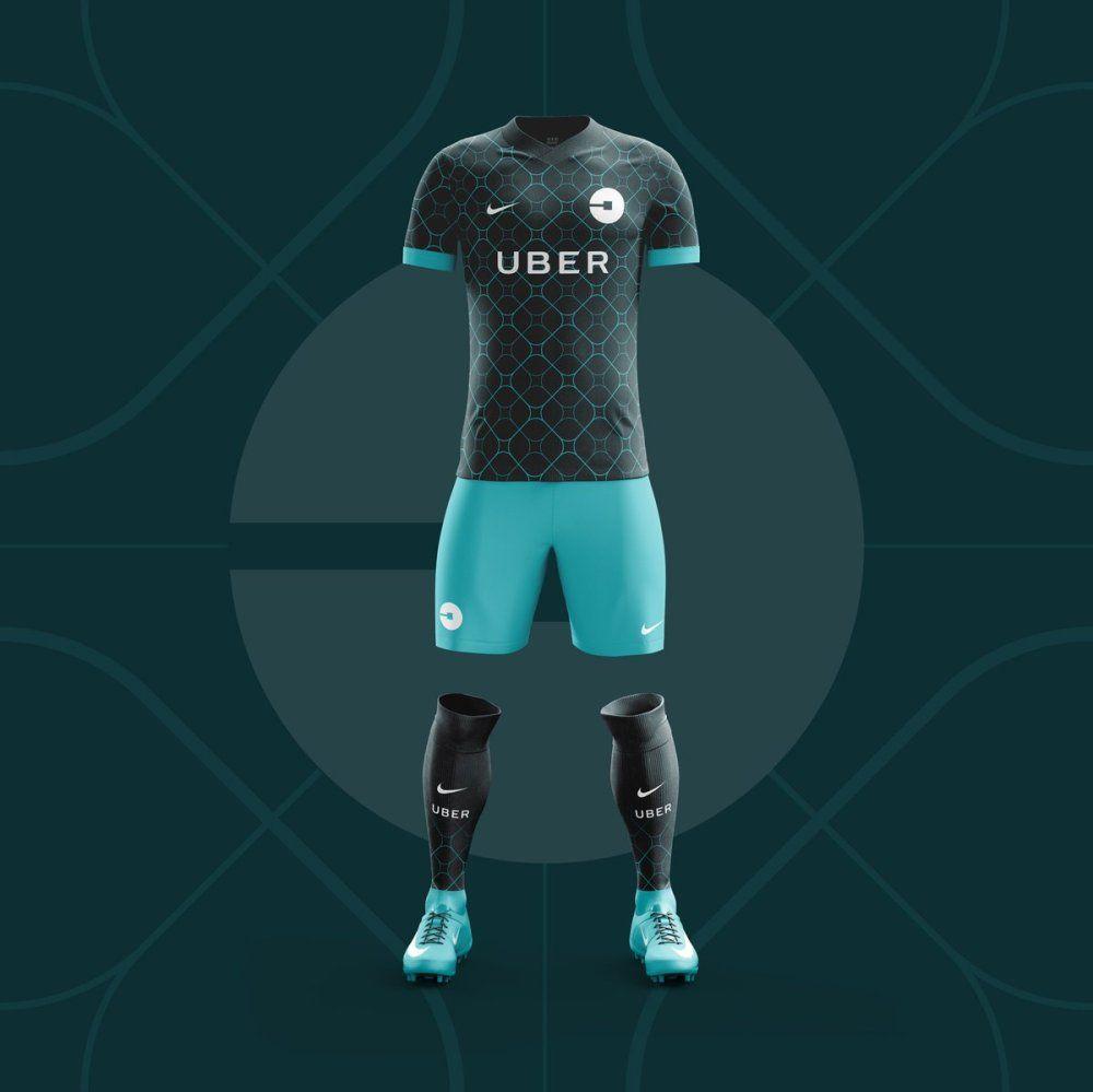 e1b25859d44 Uniforme del Equipo Uber | Uniformado | Equipo de fútbol, Uniformes ...
